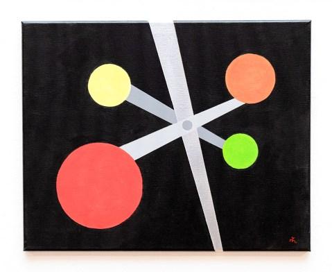 Michelle Lapointe Carnival Ride II (Black) Acrylic on canvas $300