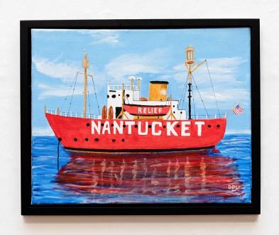 David LeComte Nantucket Light Acrylic on canvas $300