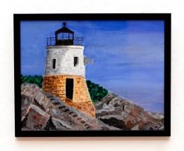 David LeComte Castle Hill Light Acrylic on paint board $250