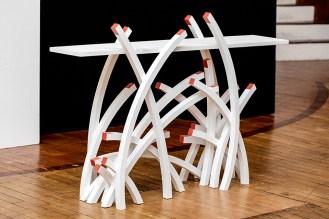 Scott Currier Table Wood, paint $1600