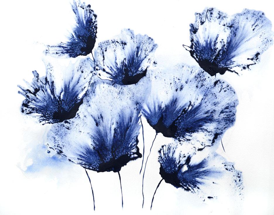 original art watercolor floral