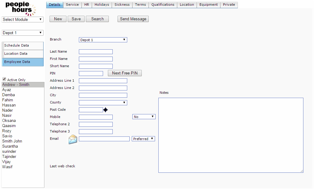 PeopleHours User Manual > Schedule Application > Employee