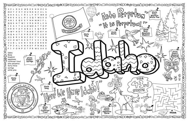 Gallopade International: Idaho Symbols & Facts FunSheet