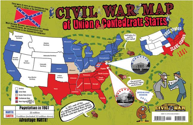 union confederate border states map