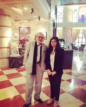 Himani with Harshad Patel
