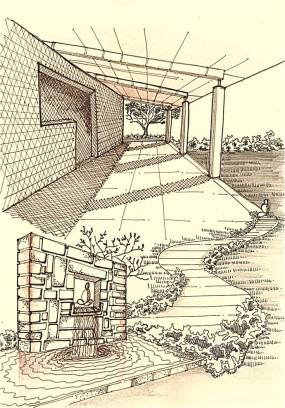 Series –Architectural Spaces : Art Work: Fusion of Built and Open Space