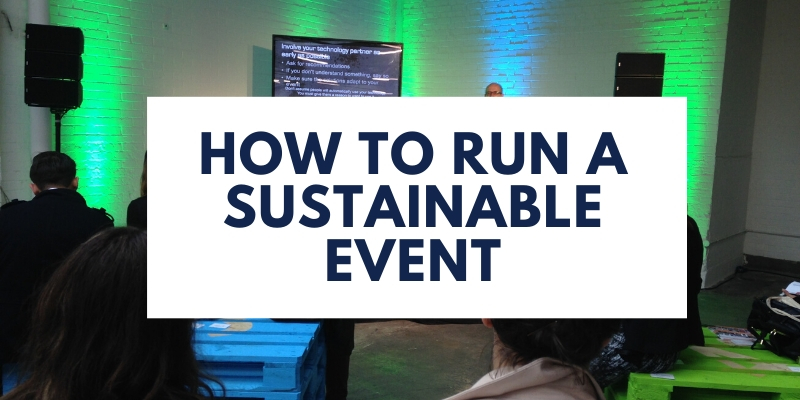 how to run a sustainable event