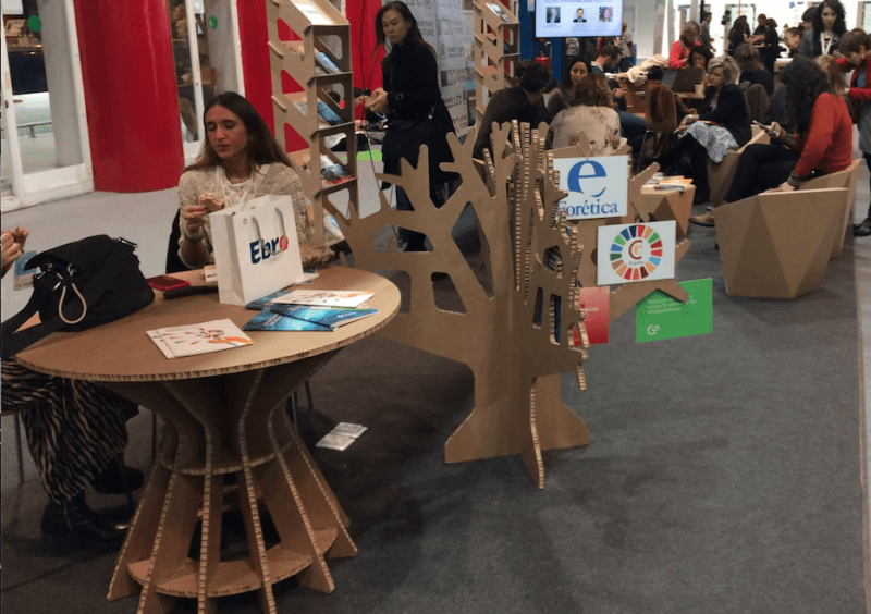cardboard tables and chairs