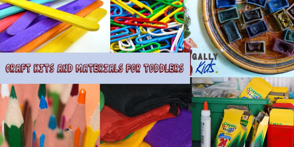 Craft kits and materials for toddlers. We recommend having these things at home for your craft activities with the kids
