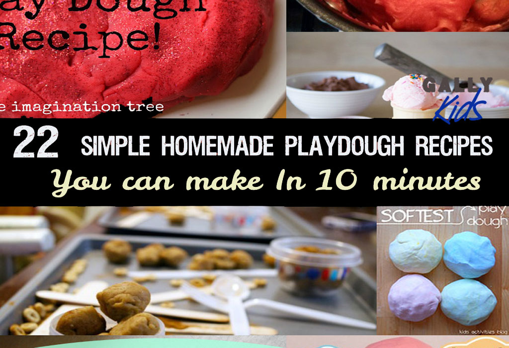 Different recipes for homemade playdough that you can do at home from tartar free ones to moonsand