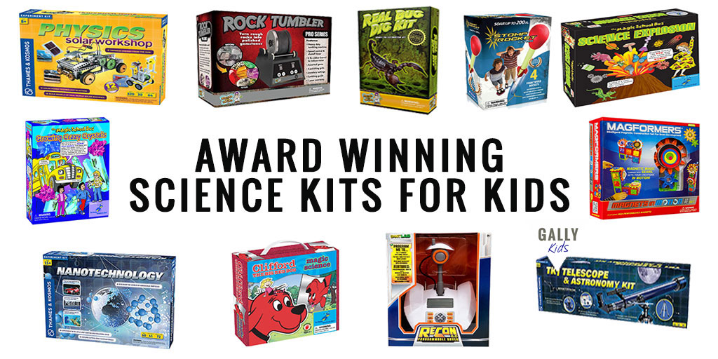 More than 20 science kits that have won awards. 4 -5 star reviews by parents too. Educational toys that teach science concepts well!