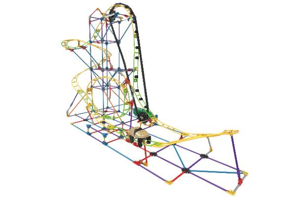 k'nex roller coaster building set. Build an actual moving roller coaster.