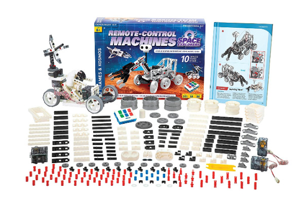 Space Explorers Science Kit - Combine your kids love for space, engineering and building with this amazing 250+ science kit. Build shuttle arms, mars rover and more..