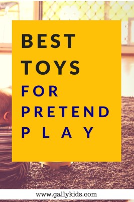 A list of toys for pretend play that help with your child's mental, social and psychological development.