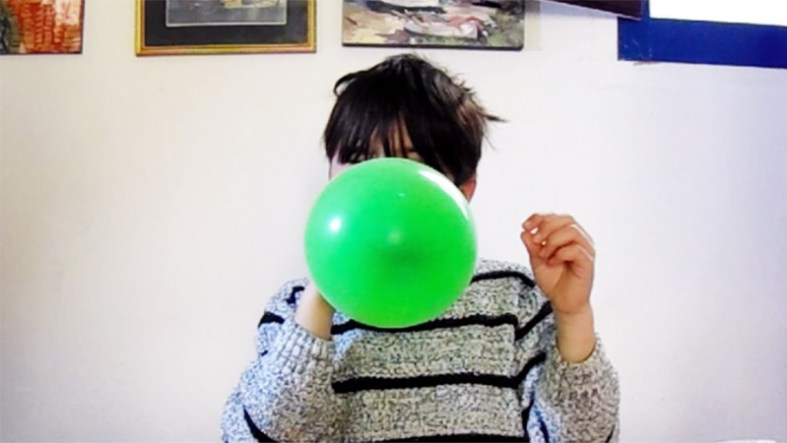 Step 1: Blow up the balloon! You need one.