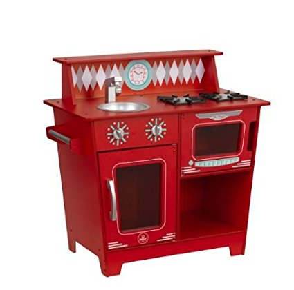 Red retro kitchen play set. How lovely is this?