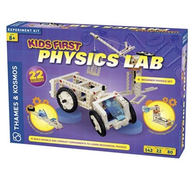Kids First Physics Lab. Introductory set to learning physics. Kids learn how to build 20 different machines.