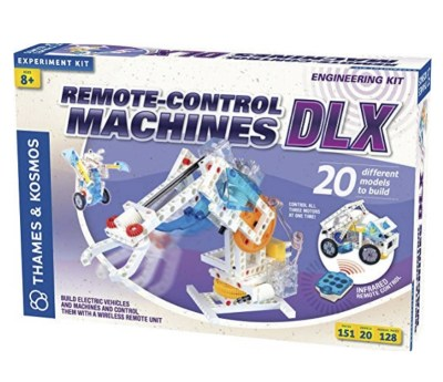 Build remote control machines - over 15 different models to make. Learn about circuits.