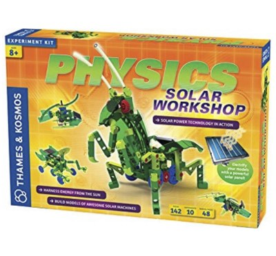 """Physics solar workshop experiment kit - Kids learn how solar power works. This includes all the things needed to make their very own solar-powered """"bots"""""""