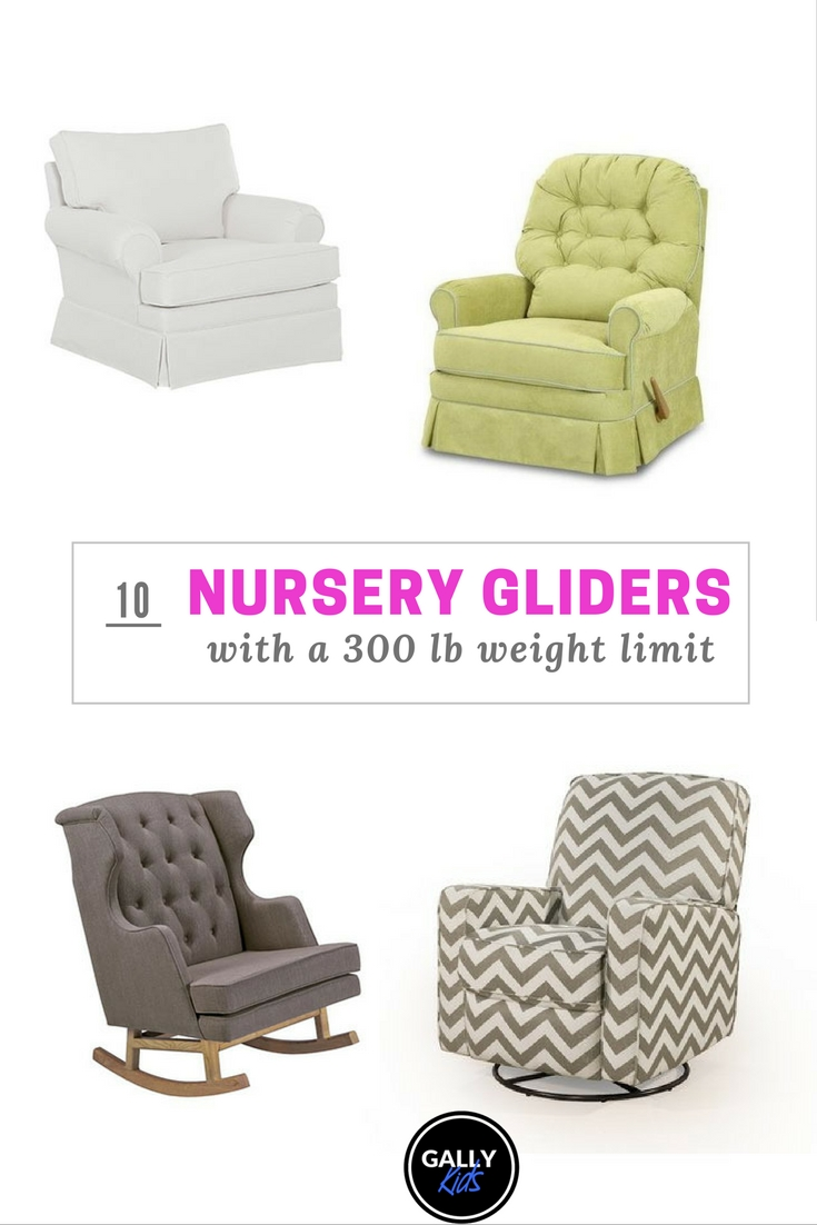 features 4 of the 10 different nursery gliders that are fit for plussize parents - Glider Rockers