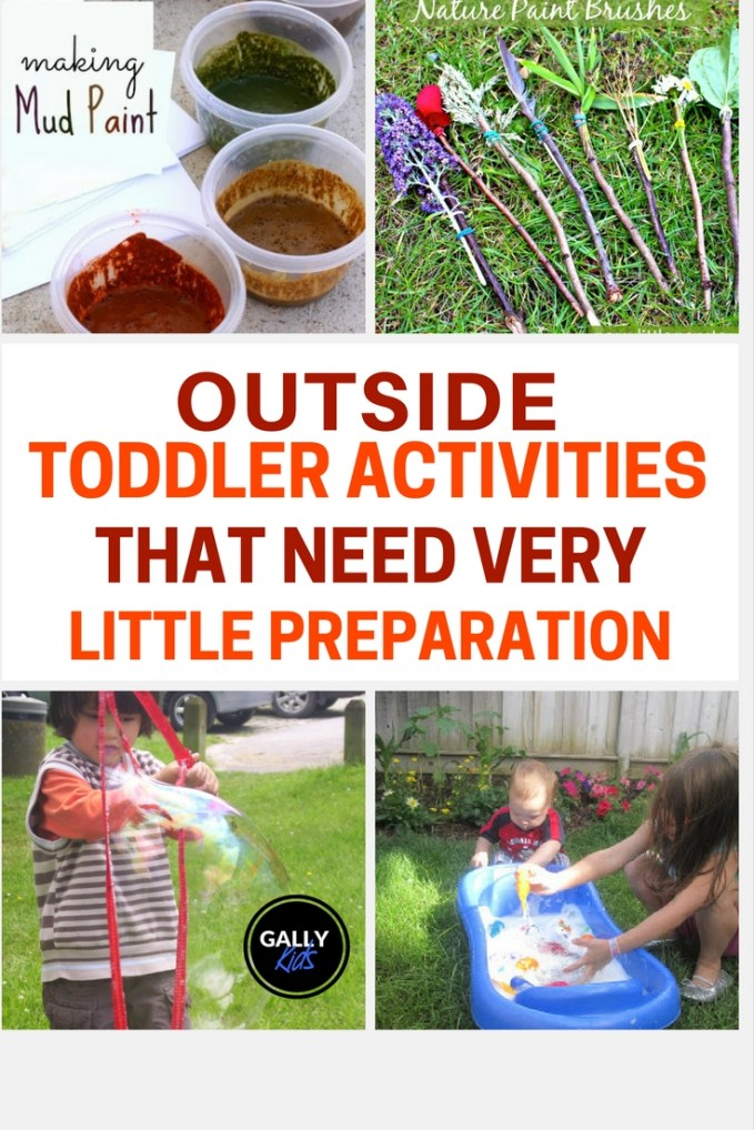 Get your 36 month old out of the house with these super fun activities they can easily do in the garden. No preparation needed!