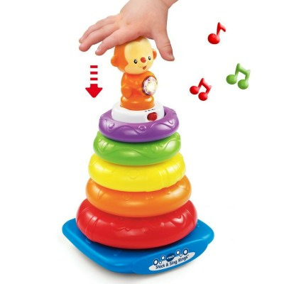 Stack and sing. Stacking toy that plays music too