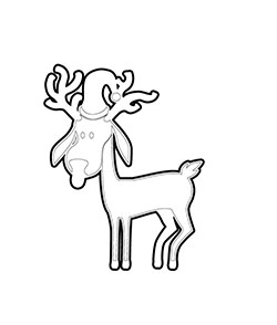 Cute baby reindeer colouring sheet for kids to do this Christmas