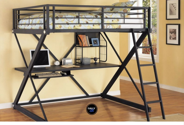 Find A Full Size Loft Bed With Desk Underneath Perfect For Small