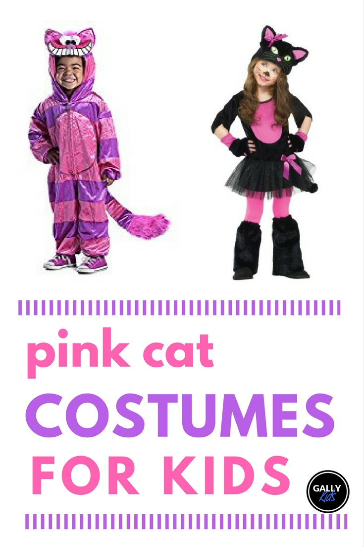 Cute Pink Cat Costumes For Kids This Halloween