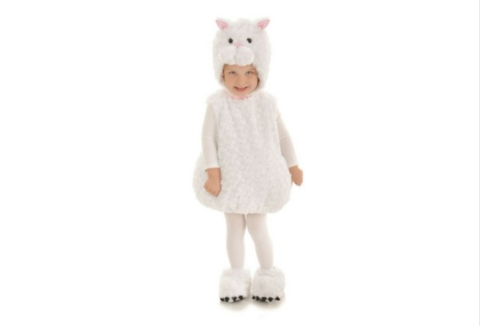 Soft and fluffy, this white cat costume dress is great for pretend play and halloween