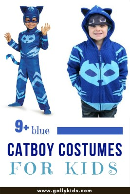 Catboy costume PJ Masks - the onesie is obviously perfect for a costume, but the jacket is just as cute. Pair it up with a blue sweatpants and it should look really nice.