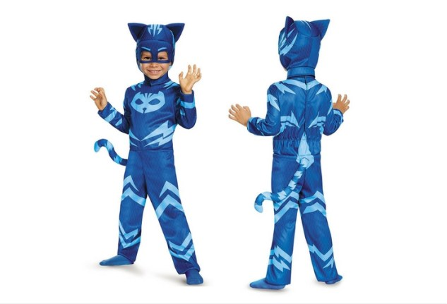 Your little superhero is going to love this Catboy jumpsuit for a costume. Also available as glow in the dark.