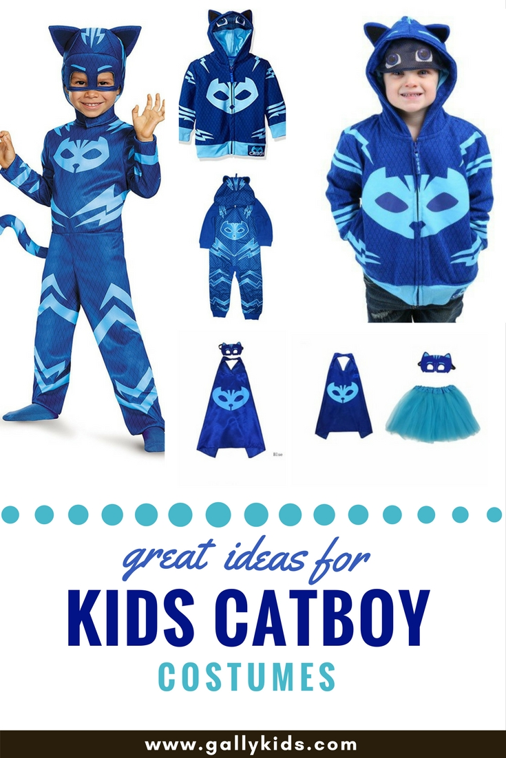 Super cute blue catboy costume for halloween inspired by pj masks solutioingenieria Gallery