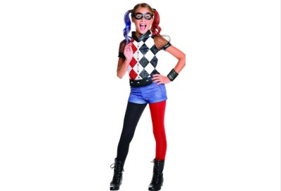 Official merchandise for the Harley Quinn halloween costume. Black and red. Complete set including accessories