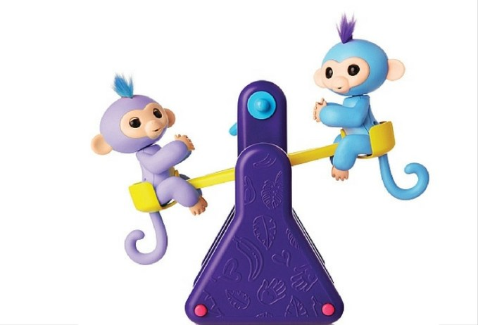 Milly and Willy Fingerling Toys, Animatronic monkeys who come with the see-saw playset