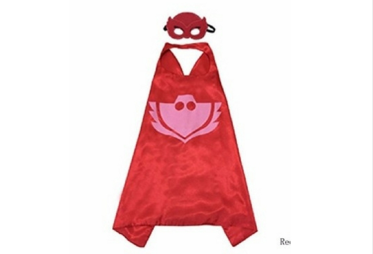PJ Masks Owlette fancy dress costume. Pair it up with a red sweatshirt and sweatpants and you've got yourself a hero.