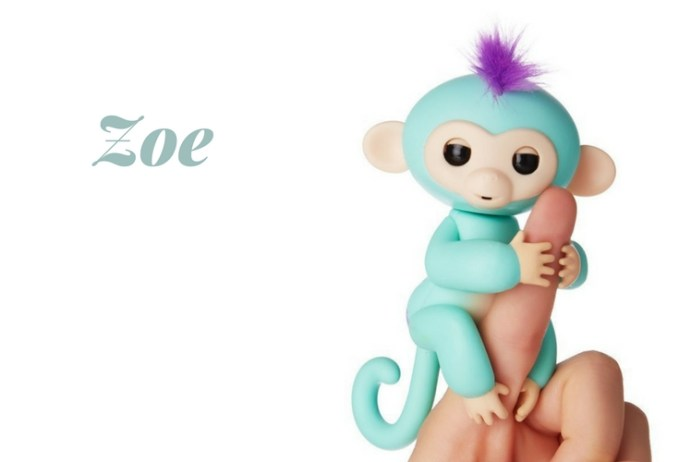 Zoe Fingerling - cute little monkey. Interactive. responds to different commands. A pet? a robotic toy? A friend. Loves to hang upside down.