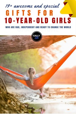 10-year old girl gift ideas. Don't be limited to pink. Loads of ideas here for the rad little girl who's ready to change the world.