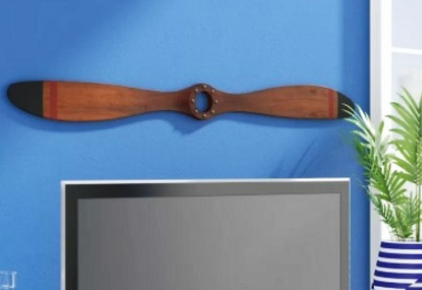 Handmade wooden wood airplane propeller for a wall decor.