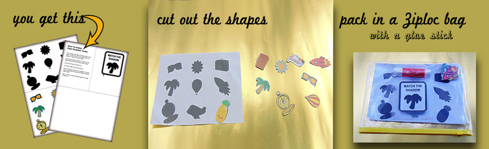 Shadow matching: A fun and easy game for 2 year olds.
