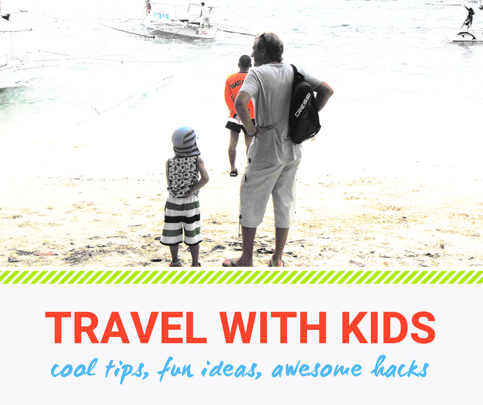 Father and son about to get on a boat. Travel with kids now. There's no better time to do it.