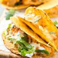 Oven Baked Buffalo Chicken Tacos