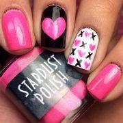 romantic valentine nail art design