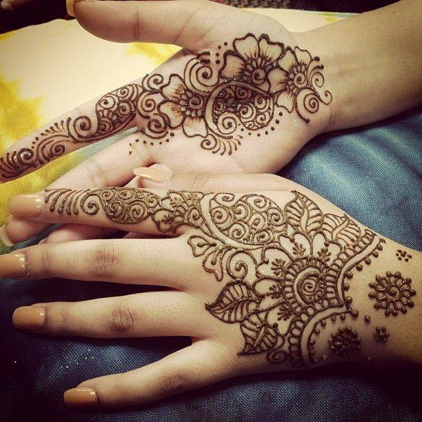 Latest Simple Arabic Mehndi Designs For Hands
