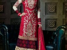 Pakistani & Indian Straight Cut Salwar Suits Designs Latest Collection 2015-2016 (1)