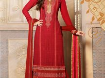 Pakistani & Indian Straight Cut Salwar Suits Designs Latest Collection 2015-2016 (13)