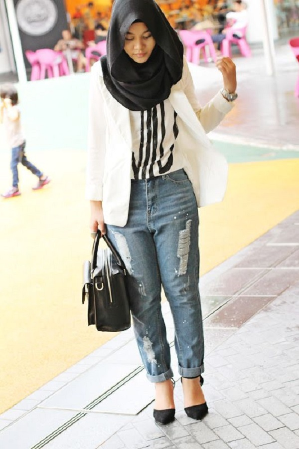 Latest Women Casual Hijab Styles With Jeans Trends 2019