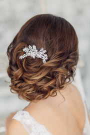 floral fancy bridal headpieces