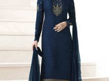 Latest Pakistani Indian Straight Cut Salwar Kameez 2018-19 Designs (46)