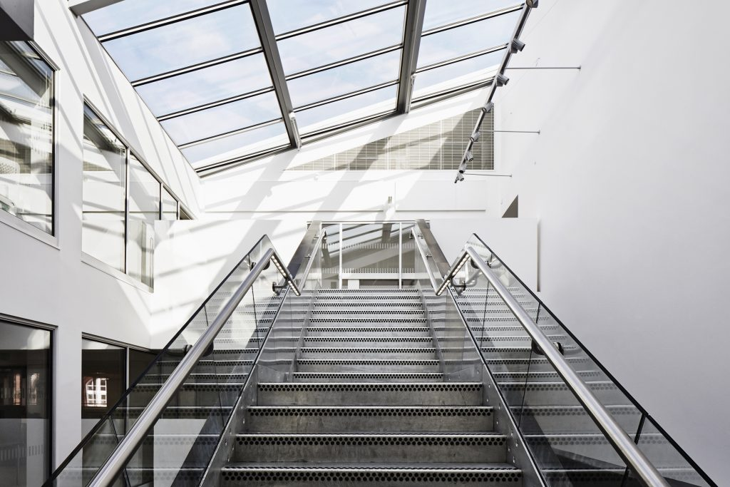 Galvanised Steel Staircase - Gunton's Building